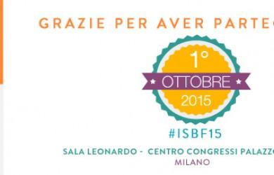 Grazie per la partecipazione a ISBF15