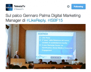 Gennaro Palma Like Reply Telesia #ISBF15