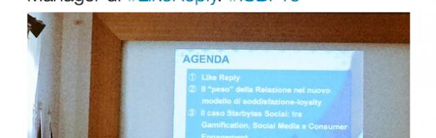 Gennaro Palma Like Reply Telesia #ISBF15